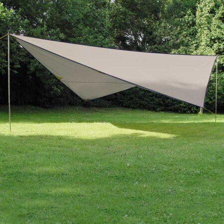 Tarp solsejl 5 x 5 m, vandsøjle 1000 mm, Stengrå