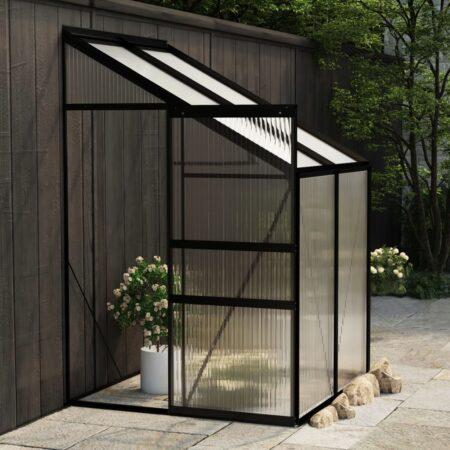 vidaXL drivhus 2,59 m³ aluminium antracitgrå