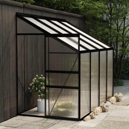 vidaXL drivhus 5,02 m² aluminium antracitgrå