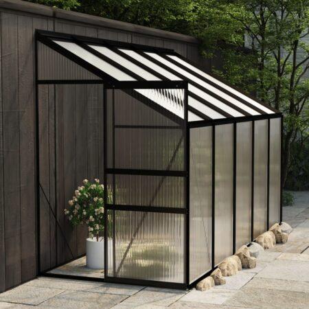 vidaXL drivhus 6,23 m² aluminium antracitgrå