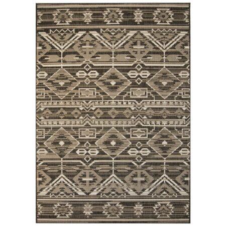 vidaXL tæppe sisallook indendørs/udendørs 160 x 230 cm geometrisk