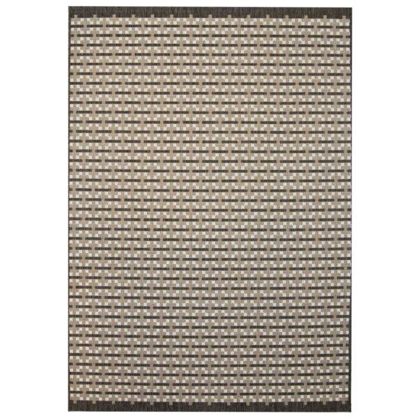 vidaXL tæppe sisallook indendørs/udendørs 80 x 150 cm firkanter