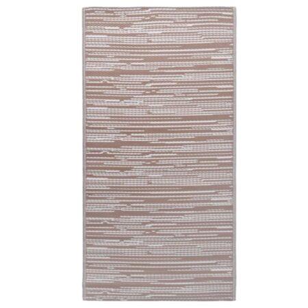 vidaXL udendørstæppe 120x180 cm PP brun