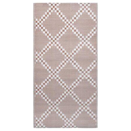 vidaXL udendørstæppe 80x150 cm PP brun